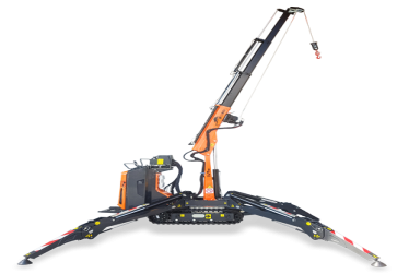 Articulated crawler crane