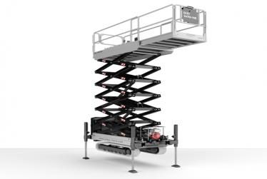 Crawler scissor lift with stabilizers- HE line