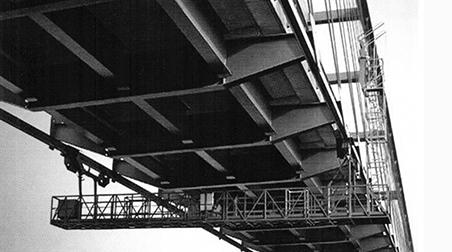 Monitoring bridges with access equipment