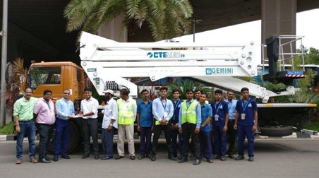 A CTE ZED 29 on Tata truck for India